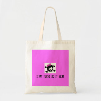 Cute_Skull_by_ashzstock, X-RAY TECHS DO IT BEST Tote Bag