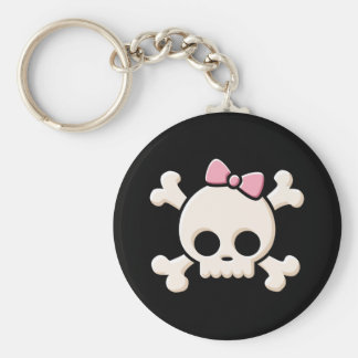 Cute Skull Girl Keychain