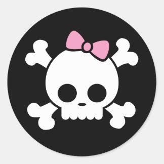Cute Skull Girl Sticker