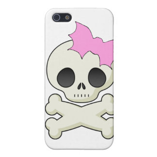 Cute Skull n Crossbones with Bat Bow Spec Case