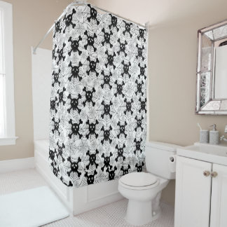 Cute Skulls Shower Curtain