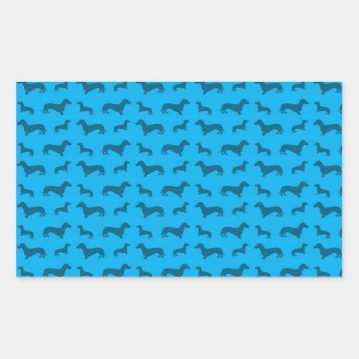 Cute sky blue dachshund pattern stickers