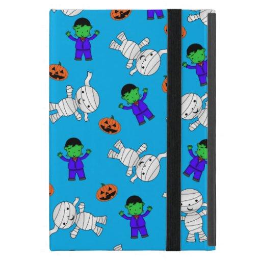 Cute sky blue Frankenstein mummy pumpkins iPad Mini Cases
