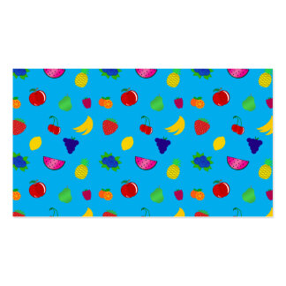 Cute sky blue fruits pattern pack of standard business cards
