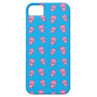 Cute sky blue pig pattern iPhone 5 cover