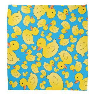 Cute sky blue rubber ducks kerchief
