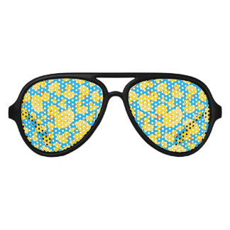 Cute sky blue rubber ducks party sunglasses