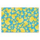 Cute sky blue rubber ducks tissue paper