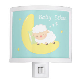 Cute Sleeping Baby Lamb Kids Nursery Room Decor Night Lites