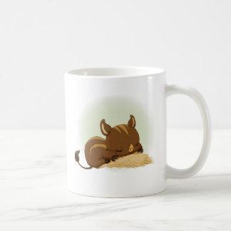 Cute sleeping boar piglet coffee mugs