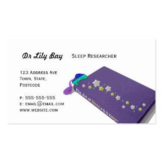 Cute Sleeping Book Business Cards