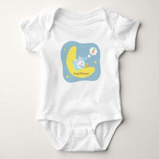 Cute Sleeping Bunny on Moon For Baby Boy Baby Bodysuit
