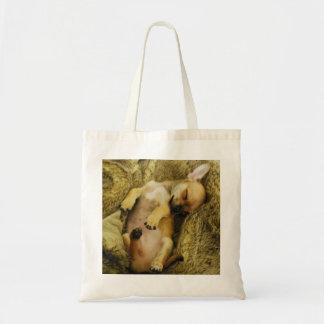 Cute Sleeping Chihuahua Tote Bag