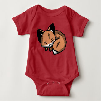 Cute Sleeping Fox Baby clothes Baby Bodysuit