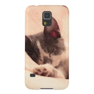 Cute Sleeping Kitten Galaxy S5 Covers