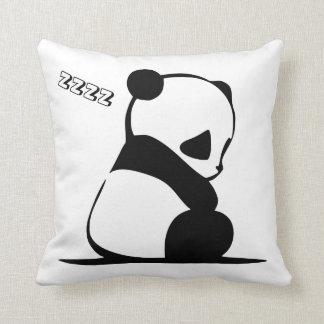 Cute Sleeping Panda Bear Throw Pillow