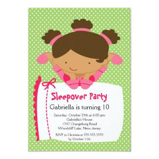 "CUTE Sleepover Birthday Party Inviation 5"" X 7"" Invitation Card"