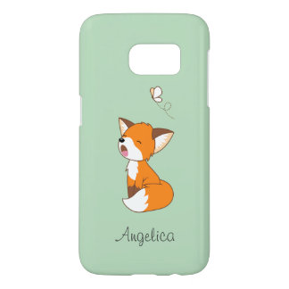 Cute Sleepy Little Fox Samsung Galaxy S7 Case