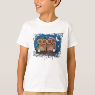 Cute Sleepy Owls T-Shirt
