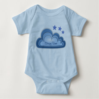 Cute Sleepy Time Baby Boy Girl Pink Blue or White Baby Bodysuit