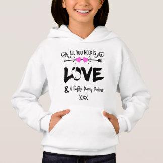 Cute Slogan Love & Fluffy Bunny Rabbit Theme Graph