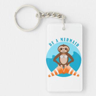 Cute Sloth Be a Mermaid Keychain