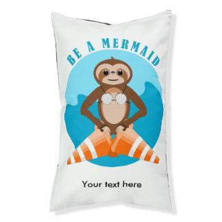 Cute Sloth Be a Mermaid Pet Bed