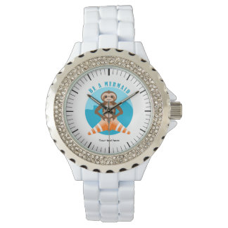 Cute Sloth Be a Mermaid Watch