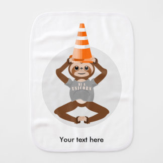 Cute Sloth Be A Unicorn Burp Cloth