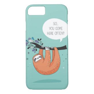 Cute Sloth Blue iPhone 7 Case