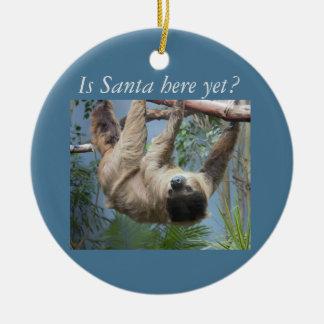 Cute Sloth Ceramic Ornament