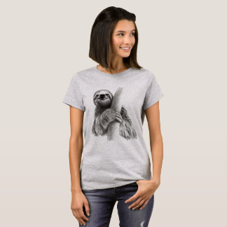Cute Sloth Drawing T-Shirt