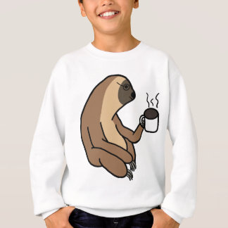 Cute Sloth Drinking Coffee Sweatshirt
