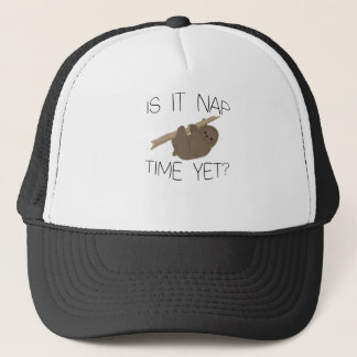 Cute Sloth- Is It Nap Time Yet Trucker Hat