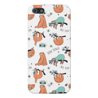 Cute Sloth Pattern Case For iPhone 5/5S