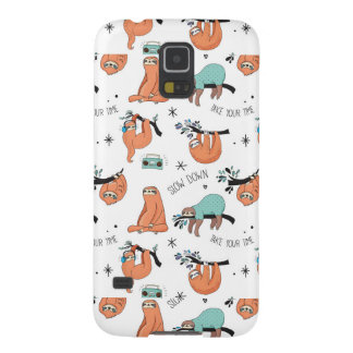 Cute Sloth Pattern Galaxy S5 Cases
