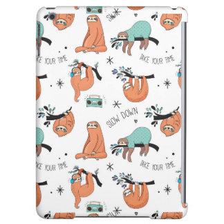 Cute Sloth Pattern iPad Air Cover