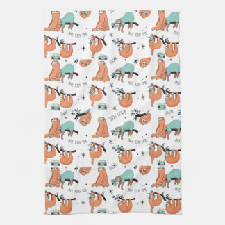 Cute Sloth Pattern Kitchen Towel
