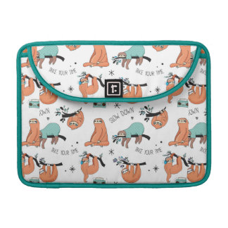 Cute Sloth Pattern Sleeve For MacBook Pro