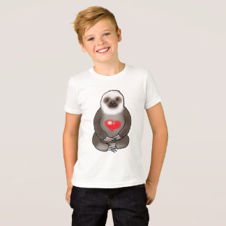 cute sloth with red heart T-Shirt