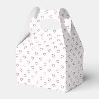 Cute Small Pink Hearts Polka Dot Gable Favor Box