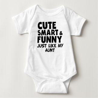 Cute Smart And Funny Like My Aunt Baby Bodysuit