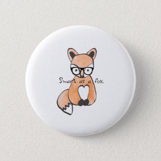 Cute Smart Fox 2 Inch Round Button