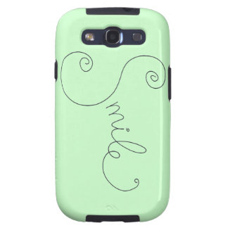 cute smile doodle black white design galaxy s3 covers