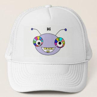 Cute Smiley Alien Monster Trucker Hat