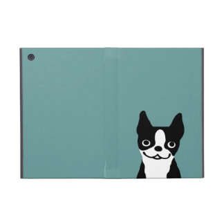 Cute Smiley Boston Terrier - Color Customizable iPad Mini Cover