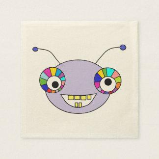 Cute Smiley Cartoon Alien Head Design Paper Napkin