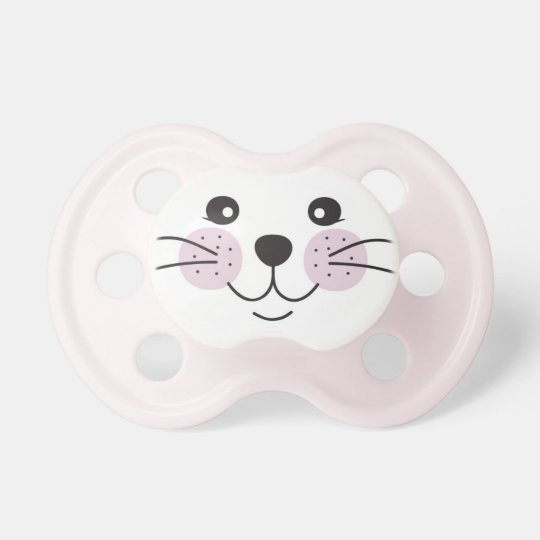 Cute, smiley cat face pacifier