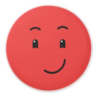Cute Smiley ceramic knob