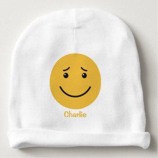 Cute Smiley custom name baby beanie
